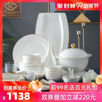 Fire color - home dishes suit high-grade bone China jingdezhen ceramics tableware dishes phnom penh combination of Europe type style