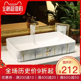 North Europe type lavatory square lavabo toilet stage basin household ceramics art of the basin that wash a face wash basin