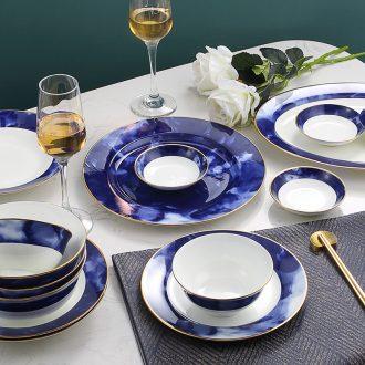 """Godwin zhang"" modern bone porcelain tableware suit creative art derivatives jingdezhen bowls plates mountain"