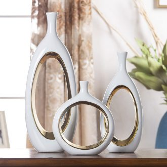 Nordic simple ceramic vase sitting room new dry flower arranging flowers light TV ark furnishing articles of luxury hotel home decoration