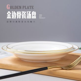 Jingdezhen dinner plate glass table creative european-style soup of wire rod all the plates phnom penh pasta dish for breakfast