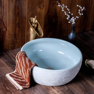 Jingdezhen ceramic plate stage basin to wash your hands round Chinese contracted creative art hotel toilet wash basin