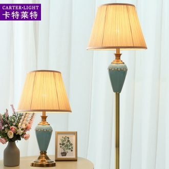 American floor lamp contracted and contemporary sofa tea table remote ceramic bedroom berth lamp sitting room study vertical light