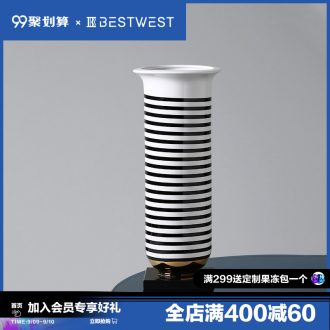 BEST WEST new Chinese style ceramic vase furnishing articles creative sitting room between example wine light decoration luxury villa