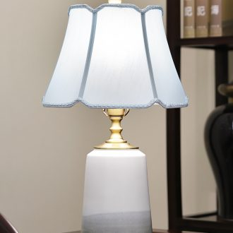 New Chinese style lamp ceramic decoration art of contemporary and contracted designer sitting room the bedroom of the head of a bed lamp all copper lamps and lanterns