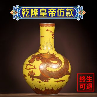 Better sealed kiln porcelain of jingdezhen ceramic antique hand-painted gold home furnishing articles rich ancient frame big Chinese porcelain vase