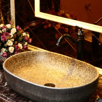 Basin of Chinese style of song dynasty on household ellipse on the sink American basin European ceramic art basin