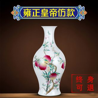 Better sealed kiln archaize sitting room flower arranging furnishing articles of jingdezhen ceramic vases, hand-painted porcelain rich ancient frame of new Chinese style porch