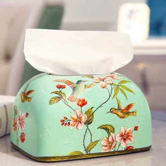 American ceramic household contracted take place restaurant decorative paper carton European sitting room tea table smoke box meal tissue boxes