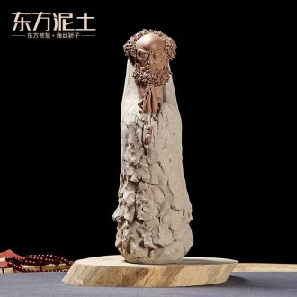 Oriental clay ceramic zen characters restoring ancient ways furnishing articles of Chinese style tea tea tea table decorations/enlightenment dharma