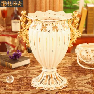 Vatican Sally European vase sitting room place villa large flower arranging exchanger with the ceramics TV ark decoration decoration arts and crafts