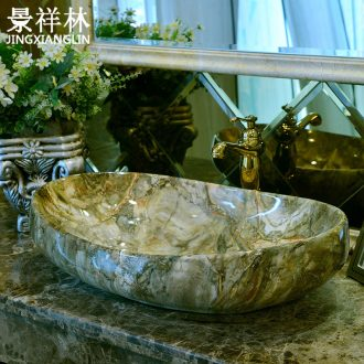 Ou on the marble basin ceramic lavabo American art basin of elliptic toilet lavatory basin