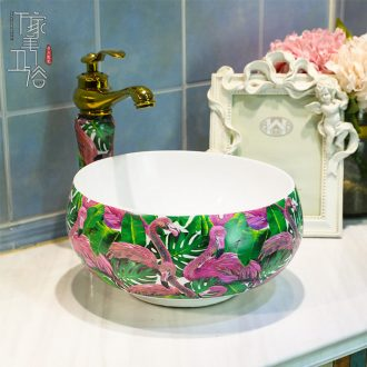 M beautiful stage basin sink lavatory ceramic european-style bathroom art basin of the basin that wash a face wash gargle