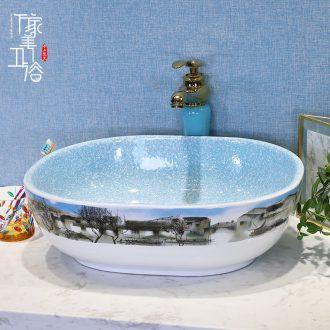 M the European golden stage basin square ceramic art basin basin lavatory basin sink sink