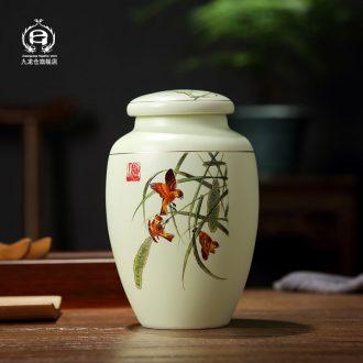 DH caddy ceramic seal tank storage POTS home two small storage tank jingdezhen medium tea cups