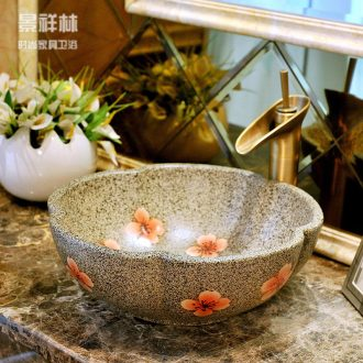 Package mail european-style petals jingdezhen archaize basin basin lavatory sink & ndash; Has nothing