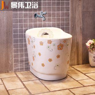 The balcony floor mop pool ceramic mop pool household washing basin large bathroom large mop mop pool
