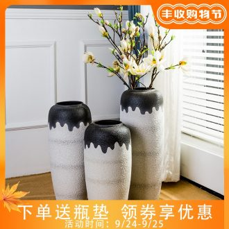Jingdezhen ceramic vase furnishing articles home decoration contracted Europe type plug dried flowers large sitting room ground vase decoration