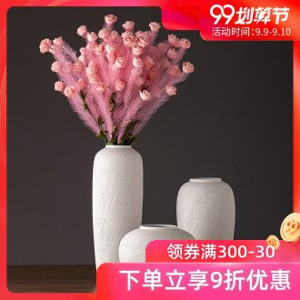 New Nordic jingdezhen ceramic vase contemporary and contracted dried flower arranging flowers sitting room adornment is placed white POTS