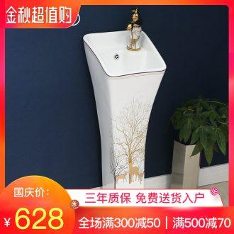 Ceramic basin of pillar type lavatory retro art basin outdoor pillar one floor toilet lavabo