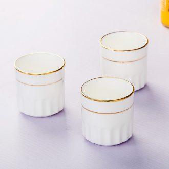 Cup by hand paint hotel table matching cups of jingdezhen ceramic tableware pure white bone China cups water
