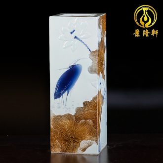 Jingdezhen ceramics hand-painted vases, flower arrangement wine porch home decoration sitting room TV ark furnishing articles