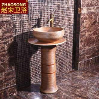 Zhao song European archaize ceramic basin outdoor toilet lavabo column column balcony sink antifreeze