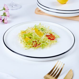 European bone porcelain plates pasta dish beefsteak 0 ceramic the disc wearing SaPan salad plate disc tray