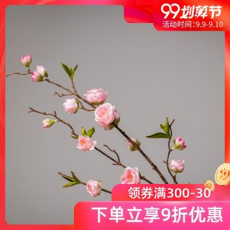 The minister ceramic plum flower simulation flowers interior furnishing articles sitting room adornment bouquets of pink flowers simulation household