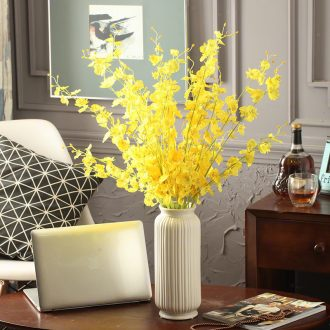 Contemporary and contracted ceramic vase continental living room TV cabinet table decorations simulation flower flower dried flowers furnishing articles