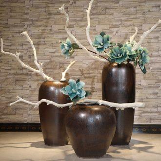 Ceramic crock POTS modern retro jingdezhen ceramic vase of large indoor and outdoor home decoration furnishing articles