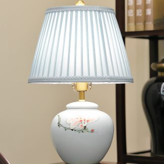 New Chinese style lamp ceramic decoration art of contemporary and contracted design Chinese wind full copper lamps and lanterns of the sitting room the bedroom of the head of a bed