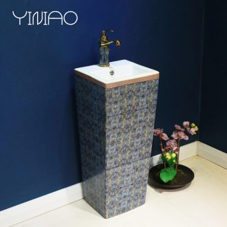 Million birds ceramic sink basin basin of pillar type lavatory pillar toilet vertical integrated floor type household