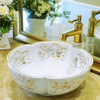 Stage basin ceramic art contracted petals basin European toilet lavabo, fuels the lavatory basin