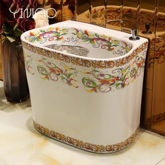 Million birds sanitary ceramic mop pool mop pool mop pool small balcony square ceramic wash mop pool pool