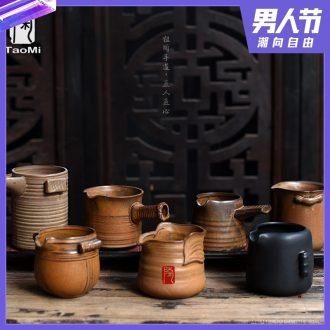 Tao fan manual clay coarse pottery archaize ceramic tea sea fair mug Taiwan Japanese undressed ore pu-erh tea ware