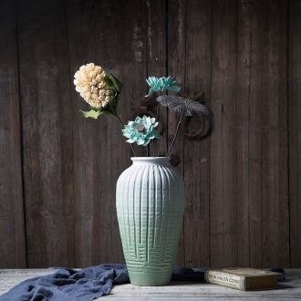 Art show new Chinese style flower implement zen dried flower ceramic vase home sitting room adornment is placed between example flower villa