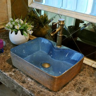 The stage basin ceramic art contracted more European square rectangle toilet lavatory basin stage basin