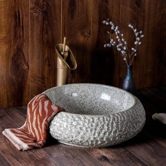 The stage basin of jingdezhen ceramic lavabo circular basin of Chinese style art personality household hotel toilet lavatory