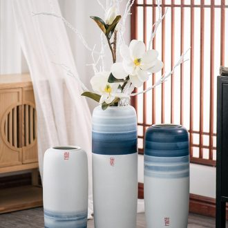 New Chinese style floor vases, flower arranging the sitting room porch household adornment of jingdezhen ceramic dried flowers large floral furnishing articles