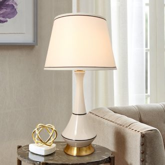 American desk lamp of bedroom the head of a bed home sitting room creative lamp light ceramic fashion decoration luxury romantic warmth northern Europe