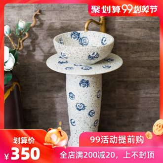 Spring rain pillar basin to the balcony toilet ceramics art one-piece stage basin lavatory basin that wash a face to wash your hands