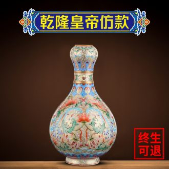 Better sealed kiln jingdezhen archaize enamel painted pottery porcelain vase hand-painted sitting room place the garlic bottles of home decoration