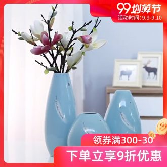 Jingdezhen vase furnishing articles sitting room flower arranging ceramic creative personality TV cabinet table porcelain home decoration