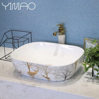The stage basin sink single household basin northern wind ceramic sinks balcony art basin basin that wash a face the pool that wash a face