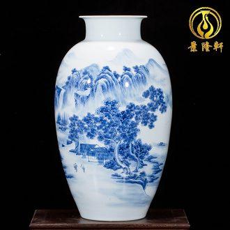 Jingdezhen ceramics hand-painted porcelain vase wine porch home wine ark adornment sitting room TV ark furnishing articles