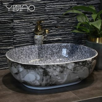 Million birds stage basin ceramic lavabo wash basin bathroom sinks the oval art home of the basin that wash a face