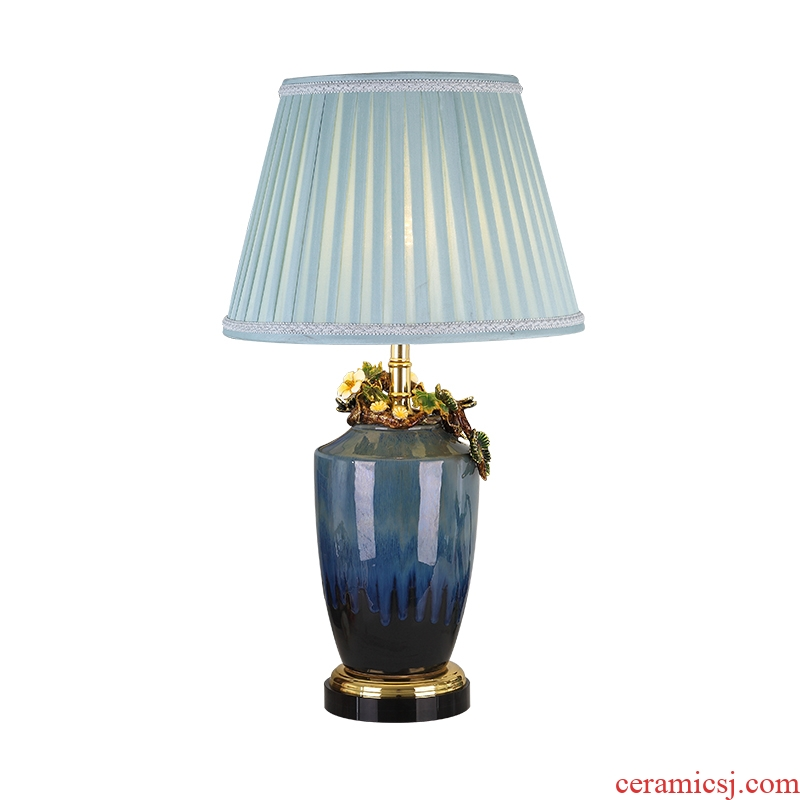 Cartel colored enamel porcelain lamp sitting room luxury atmosphere type villa crystal lamp of bedroom the head of a bed