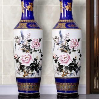 Jingdezhen ceramic flower adornment of contemporary sitting room of large vase furnishing articles large hotel opening new gift