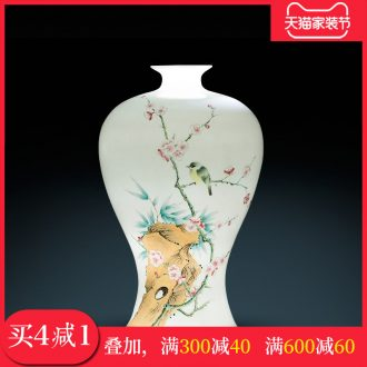 Famous master of jingdezhen ceramics hand-painted vases, sitting room of Chinese style household adornment furnishing articles present office